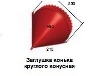 аглушка конька круглая конусная